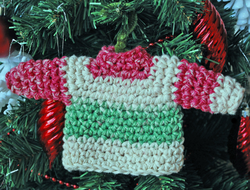 Large sweater ornament