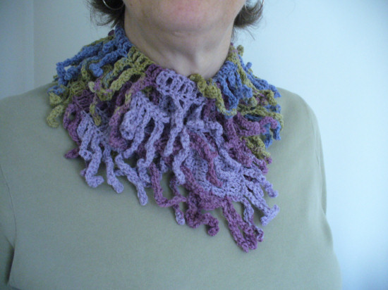 Completed Spring Tendrils Scarf