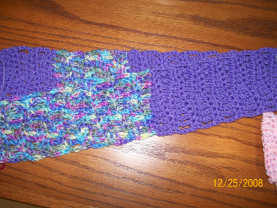 Toddler Scarf with multiple yarns