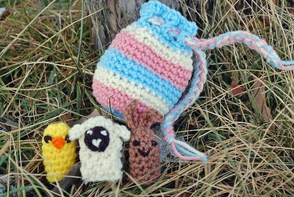 Spring Finger Puppets Crochet Uncut