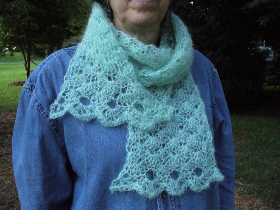 Airy Shells Scarf